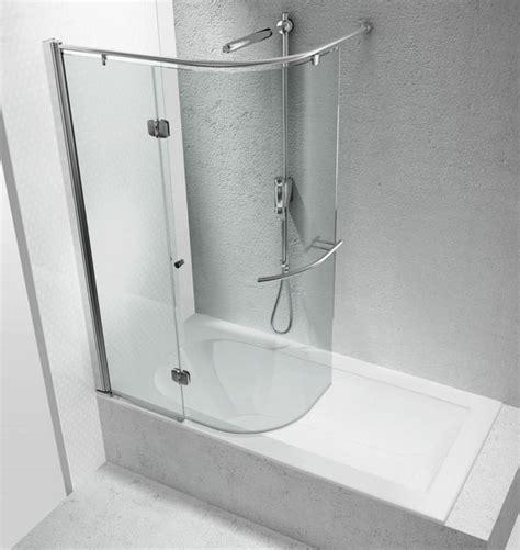 curva vasca da bagno box in vetro curvo sopra la vasca vetraria gelfi bergamo