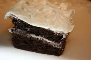 White Cake with Chocolate Icing