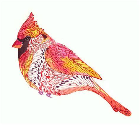 jewel cardinal cardinal bird art print size 10x8 inch no