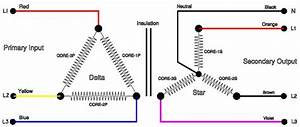 3-phase Isolating Transformer  Delta    Star Connection