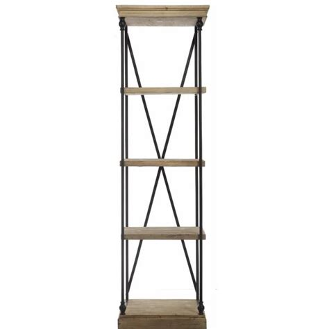 Wood Etagere by Black And Brown Kathy Ireland Wood And Metal Etagere