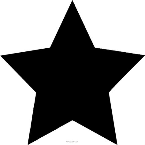 Rustic Star Outline Clip Art