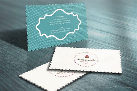 cake bakery die cut business card business card