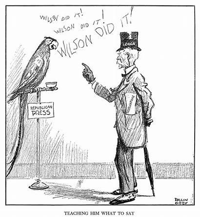 Treaty Versailles Rollin Kirby Opposition Cartoon Cabot