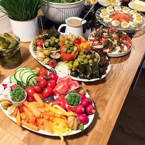 deko cuisine partybuffet inspiration abendbrot für die