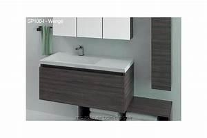 Pied Meuble Salle De Bain Suspendu : grand meuble salle de bain suspendu avec plan lavabo encastr 100cm ~ Teatrodelosmanantiales.com Idées de Décoration
