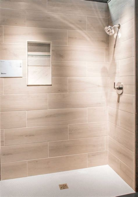bathroom shower wall tile bosco cenere faux wood wall  floor tile httpswwwtileshopcom