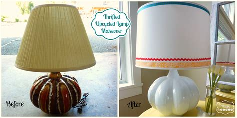 Light Up Your Life Upcycle A Thrifted Lamp  The Happy Housie