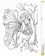 Coloring Pregnant Pregnancy Adult Lady Doodle Birth Dreamstime Female sketch template