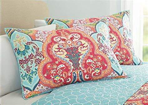 turquoise coral tropical beach quilt set
