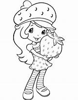 Strawberry Coloring Pages Shortcake sketch template