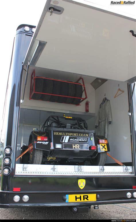 stunning  berth race transporter  huge garage