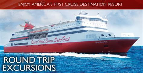 Fast Boat Miami To Bahamas by Resorts World Superfast Cruise Ship To Bimini Is Here
