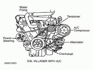 1995 Ford Windstar Serpentine Belt Diagram
