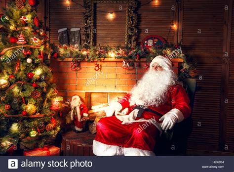 santa in my living room real santa claus santa claus sitting in the living room