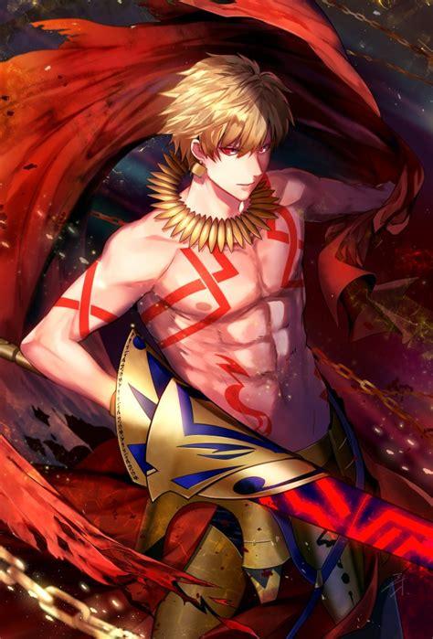 wallpaper gilgamesh fate grand order anime boy blonde