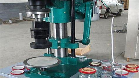 metal caps glass jars sealing machine semi automatic cap