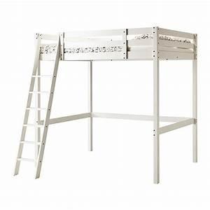 Lit Ikea 140x200 : stor structure lit mezzanine teint blanc ikea ~ Teatrodelosmanantiales.com Idées de Décoration
