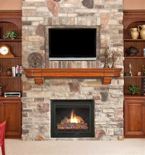 19 Awesome Stacked Stone Fireplace Designs
