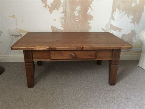 The living room in our home is not too large, not too small… but just right. Large stained pine country style coffee table | in Ledbury, Herefordshire | Gumtree