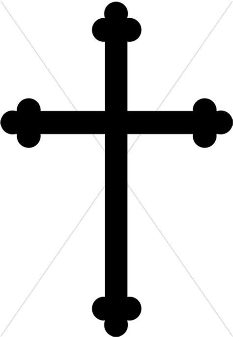 Black Trinity Cross Graphic   Cross Clipart