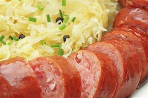 polish smoked sausage  sauerkraut recipe