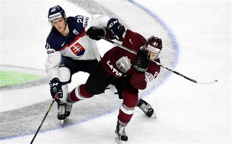 Pasaules čempionāta spēle hokejā starp Latvijas un Slovākijas izlasēm