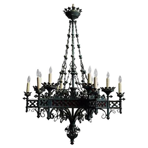 Hammered Lamp by Antique Chandelier Gothic Iron Chandelier At 1stdibs