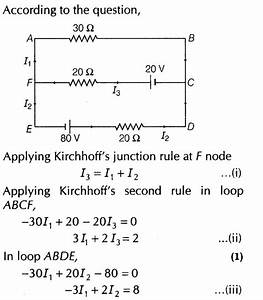 Important Questions for CBSE Class 12 Physics Kirchhoff's ...