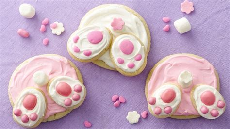 Bunny Butt Easter Sugar Cookies