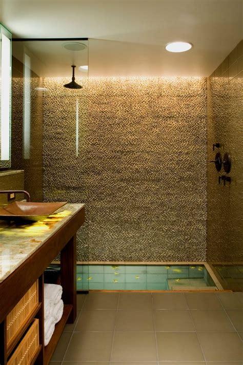 soaking tub shower bathroom rustic with sunken bathtub