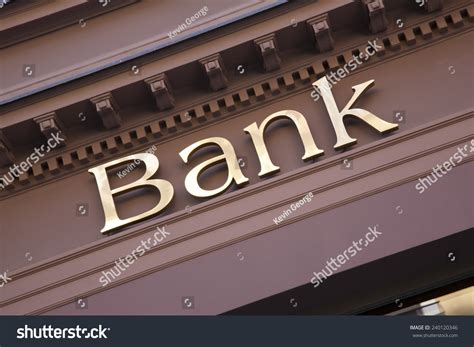 Banco Stock Bank Sign On Branch Facade Stock Photo 240120346