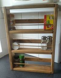 wooden spice racks CHUNKY WOODEN SPICE RACK & FITTINGS - HAND CRAFTED H50cm x ...