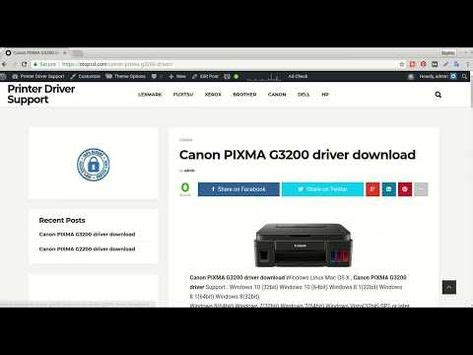 Ij start canon set up configuration is a canon com/ijsetup printer, canon ij scan utility download, and canon ij network tool from canon support windows, macos. Canon PIXMA G3200 driver how to install - YouTube