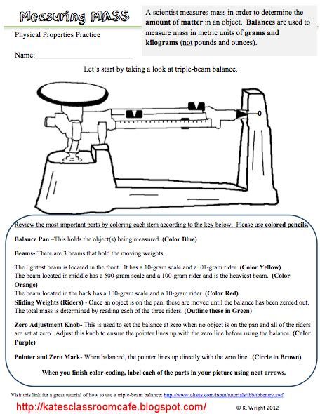 measurement worksheets science middle school beam balance worksheet problems science