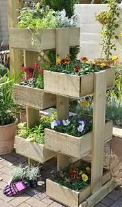 Fleur En Bois : 1001 tutoriels et id es pour fabriquer une jardini re en ~ Dallasstarsshop.com Idées de Décoration
