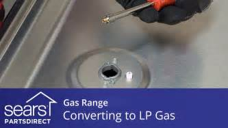 converting  gas range  operate  lp gas youtube