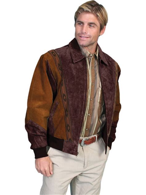 scully suede leather rodeo jacket cafe brown