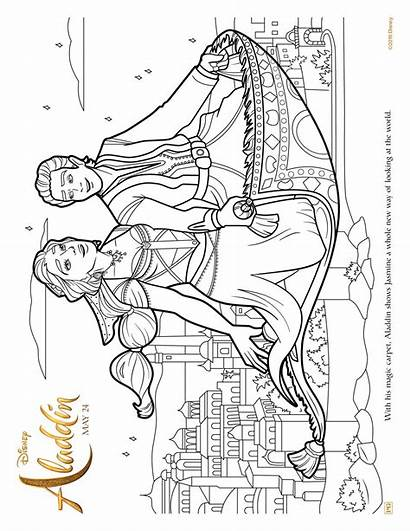 Aladdin Carpet Coloring Pages Flying Magic Ride