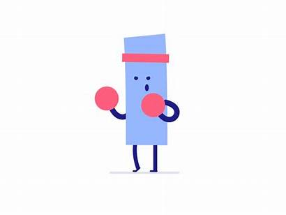 Shape Getting Boxer Going Cue Dribbble Dolph