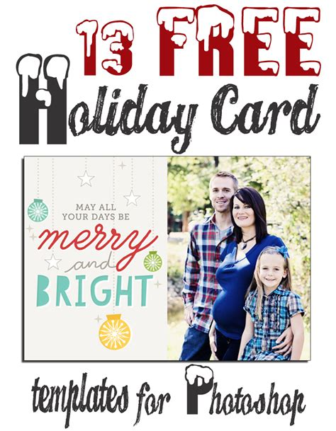 christmas huge template free christmas holiday photoshop card templates huge
