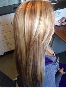 Strawberry Blonde Hair with Red Highlights