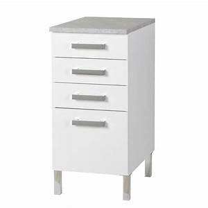 Meuble 30 Cm De Large : petit meuble blanc cuisine element bas de cuisine cbel cuisines ~ Teatrodelosmanantiales.com Idées de Décoration