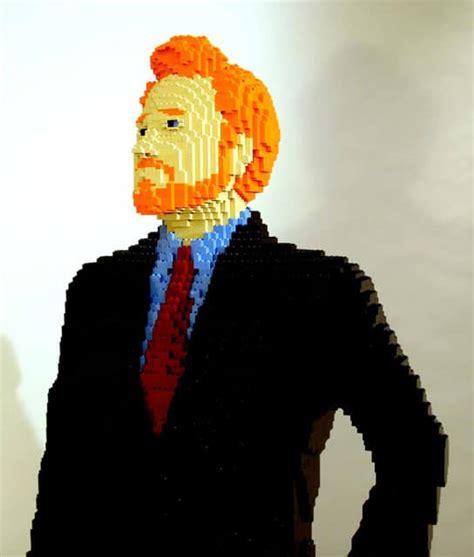 Celebrity Goes Lego Life Size Conan O'brien Lego Build