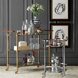beckett brass bar cart With best brand of paint for kitchen cabinets with cocktail glass wall art