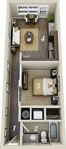 3, Inspiring, Studio, Apartment, Design, Plans, That, You, Can, Follow, To, Rearrange, Your, Apartment
