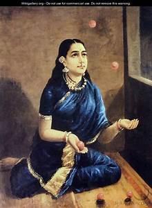 Lady Juggler - Raja Ravi Varma - WikiGallery.org, the ...