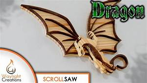 DRAGON Scroll Saw Wood Art Free Pattern - YouTube