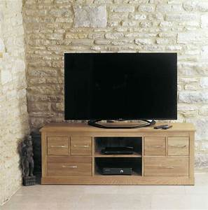 Mobel Oak Widescreen Television Cabinet Furniture Plus