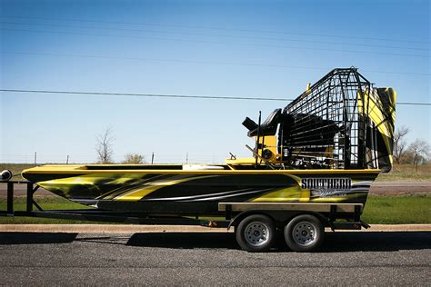 Yellow Boat Wraps by Southern Style Boats Yellow Air Boat Car Wrap City